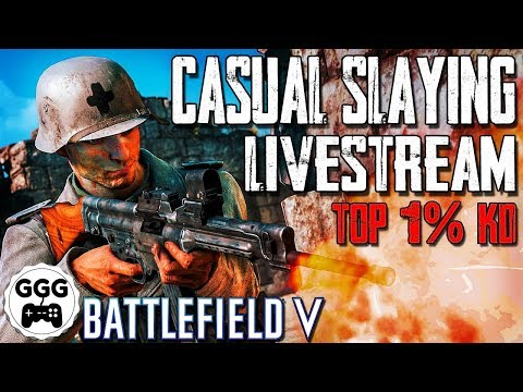 Casual Slaying & Laid-Back Laughs - Top 1% KD - Battlefield 5 Livestream thumbnail