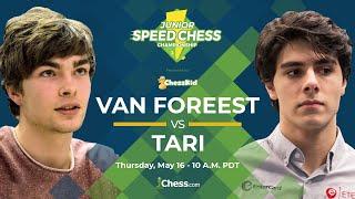 2019 Junior Speed Chess Championship: Jorden Van Foreest vs Aryan Tari