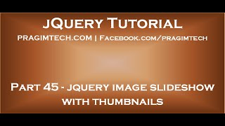 jQuery image slideshow with thumbnails