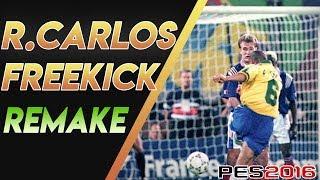 pro evolution soccer 2016 pes vs reality roberto carlos the banana free kick