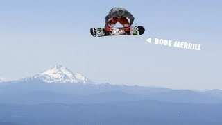 How to do a Cannonball Grab with Bode Merrill   TransWorld SNOWboarding Grab Directory