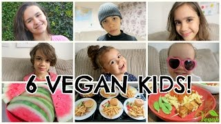 WHAT 6 VEGAN KIDS EAT IN A DAY