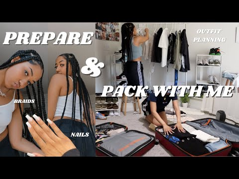 Prepare + Pack With Me for an Impulsive Trip Across the World | Hair, Nails, Outfit Planning, & More