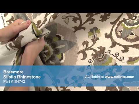 Video of Braemore Silsila Rhinestone Fabric #104742