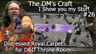 Ruined Throne Room With Rotting Carpet For D&d (the Dm's Craft, I Show You My Stuff #26)