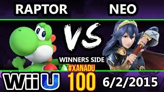 Xanadu 100 - iQHQ | Raptor (Yoshi) Vs. Neo (Sheik, Lucina) SSB4 Tournament - Smash wii U - Smash 4
