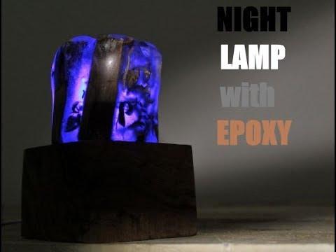 Making Night Lamp with Resin and Wood-Epoksi Gece Lambası Yapımı-Nachtlicht mit Epoxy und Holz