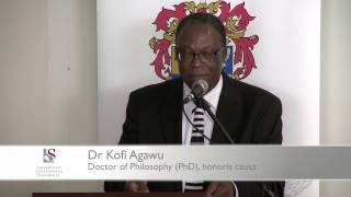 Honorary Degree: Dr Kofi Agawu