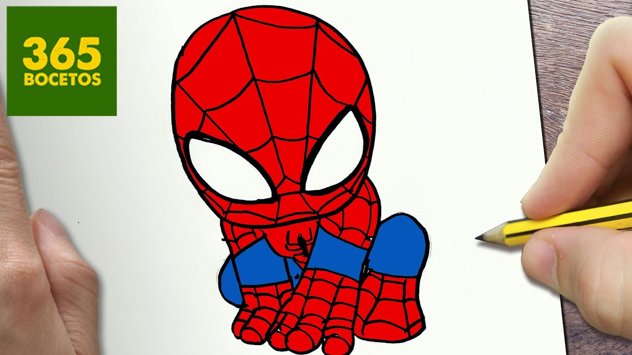 Como dibujar spiderman kawaii paso a paso dibujos kawaii faciles how to draw a spiderman