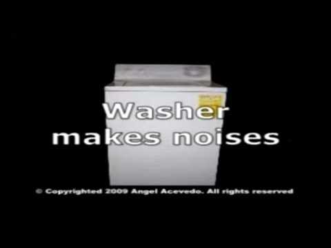 washing machine making loud noise during wash cycle