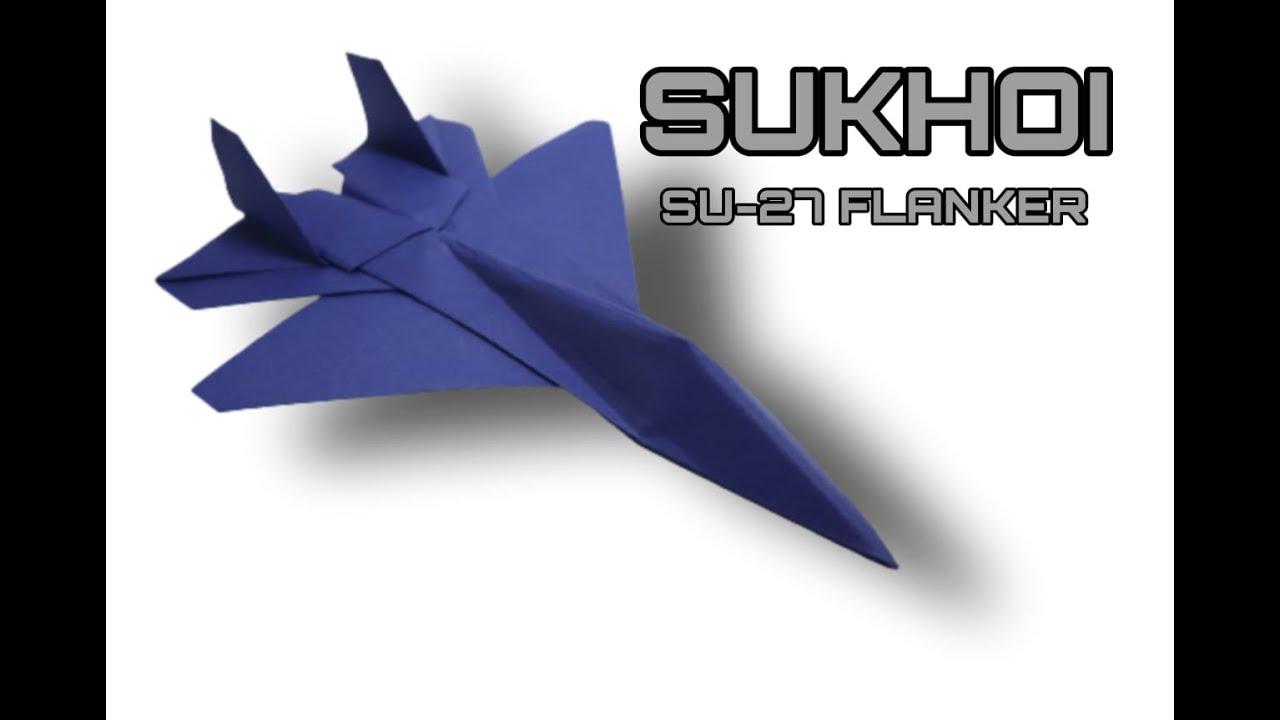 Origami Pesawat Kertas Jet Tempur