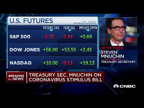 Treasury Secretary says Americans can expect stimulus checks to ...