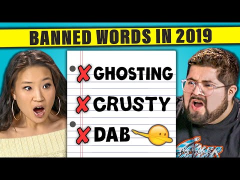 Do You Think These 12 Words Be Banned in 2019? | The 10s (React)