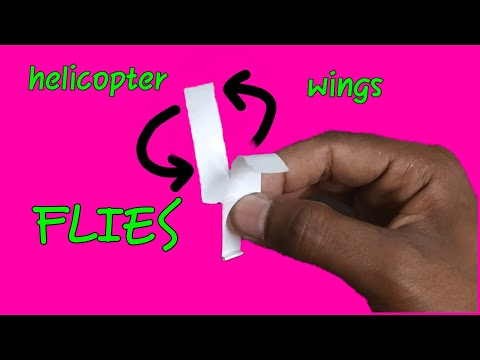 How to make a paper helicopter wings that flies