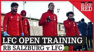 Liverpool Open Training | Dejan Lovren boost | RB Salzburg v Liverpool FC