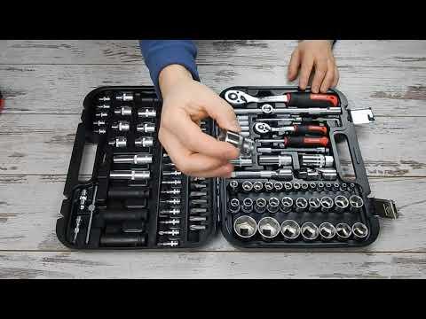 🔧 INTERTOOL STORM ET-8111 Набор инструментов Шторм 110 предметов
