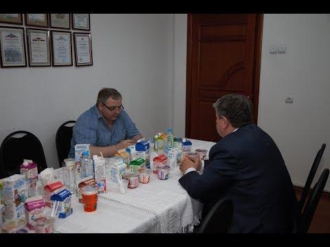 Рабочий визит Владимира Солошенко на молочный завод