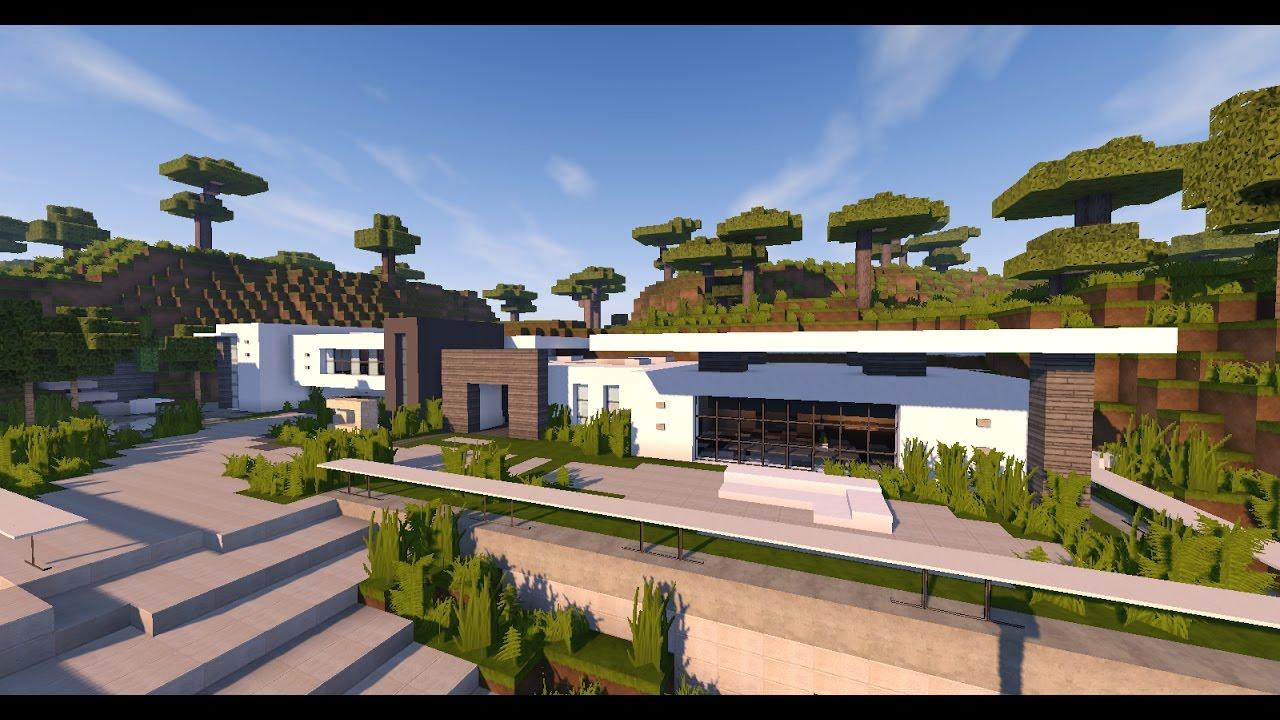 Une maison moderne sur une montagne dans minecraft youtube for Une maison moderne