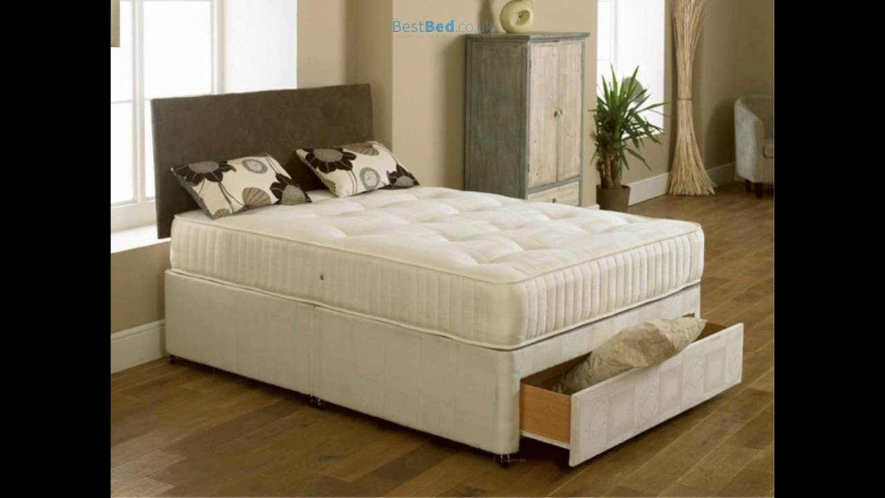E 4ft Small Double Divan Bed With Orthopaedic Mattress
