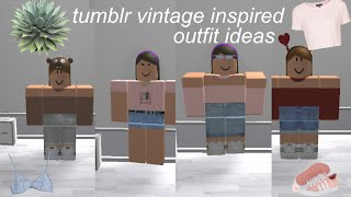 tumblr vintage inspired outfits | roblox