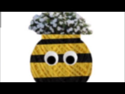 Barn Craft How to make a Bumblebee Planter epoxy resin
