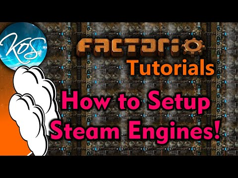 Factorio Tutorials: 0.15 STEAM ENGINES, BOILERS - Perfect Ratio, Early Game Electricity!