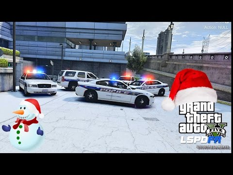 GTA 5 LSPDFR 0.3.1 - EPiSODE 289 - LET'S BE COPS - CITY PATROL (GTA 5 POLICE) MERRY CHRISTMAS!