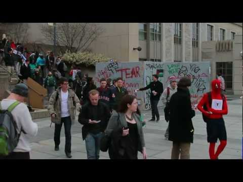 Students for Justice in Palestine perform Direct Action at Tisch Library