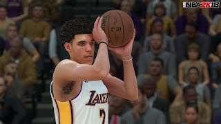 NBA 2K18 Full Gameplay 5v5 Timberwolves vs Lakers! Lonzo Ball 4 Quarters thumbnail