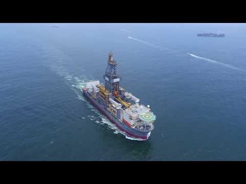 Drillship sea trial