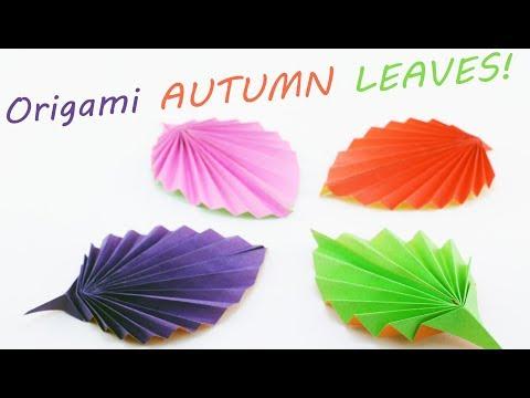 Autumn Leaves Origami Tutorial ✿Easy DIY Paper Crafts ✿ - SunderOrigami!