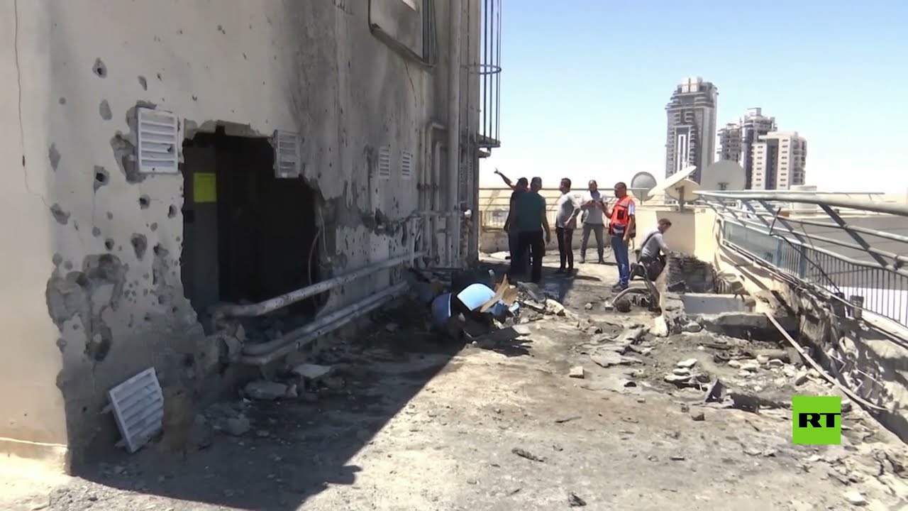 أضرار جسيمة في أحد المباني الإسرائيلية جراء إطلاق صواريخ من غزة  - نشر قبل 3 ساعة
