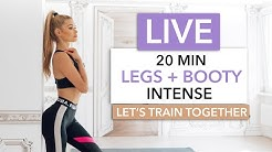 20 MIN LEGS + BOOTY - Let's train together / No Equipment I Pamela Reif