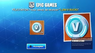 1,000 V-BUCKS THAT EPIC GAMES YOU OFFER ON FORTNITE!