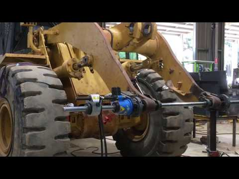 LINE BORER IN ACTION (Loader Arms Repair)