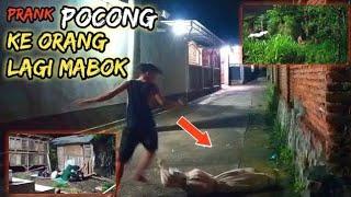 Prank Pocong ke Orang Mabuk Auto Kocar Kacir Oleng