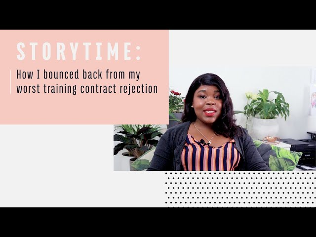 STORYTIME: my worst training contract rejection and how I bounced back 💫