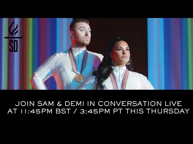 LIVE: Sam Smith & Demi Lovato in conversation- I'm Ready