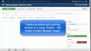 """ARI Smart Content - Data Table"" module video tutorial"