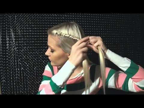 Как делать жгутики из волос - видео