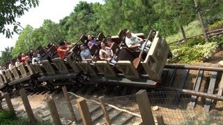 Big Grizzly Mountain Runaway Mine Cars POV Hong Kong Disneyland Roller Coaster On-Ride