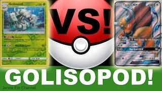 Pokemon Golisopod VS Tauros GX! PTCGO Jenna Em