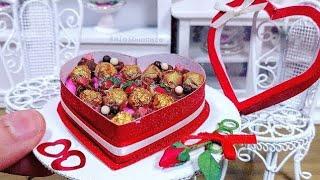 Miniature Real Edible Box of Chocolates 💝 mini food ASMR