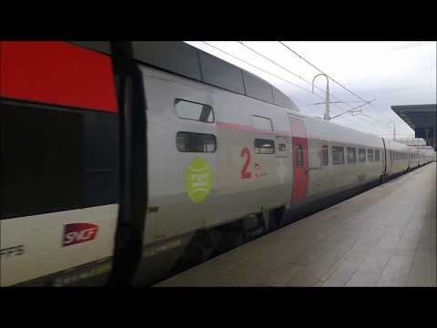 TGV Lyria enter the Aix-en-Provence Station