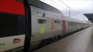 TGV Lyria enter the Aix-en-Provence Station