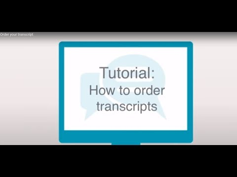 How to order transcripts