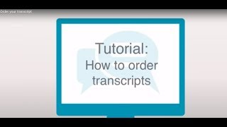 How to order transcripts thumbnail