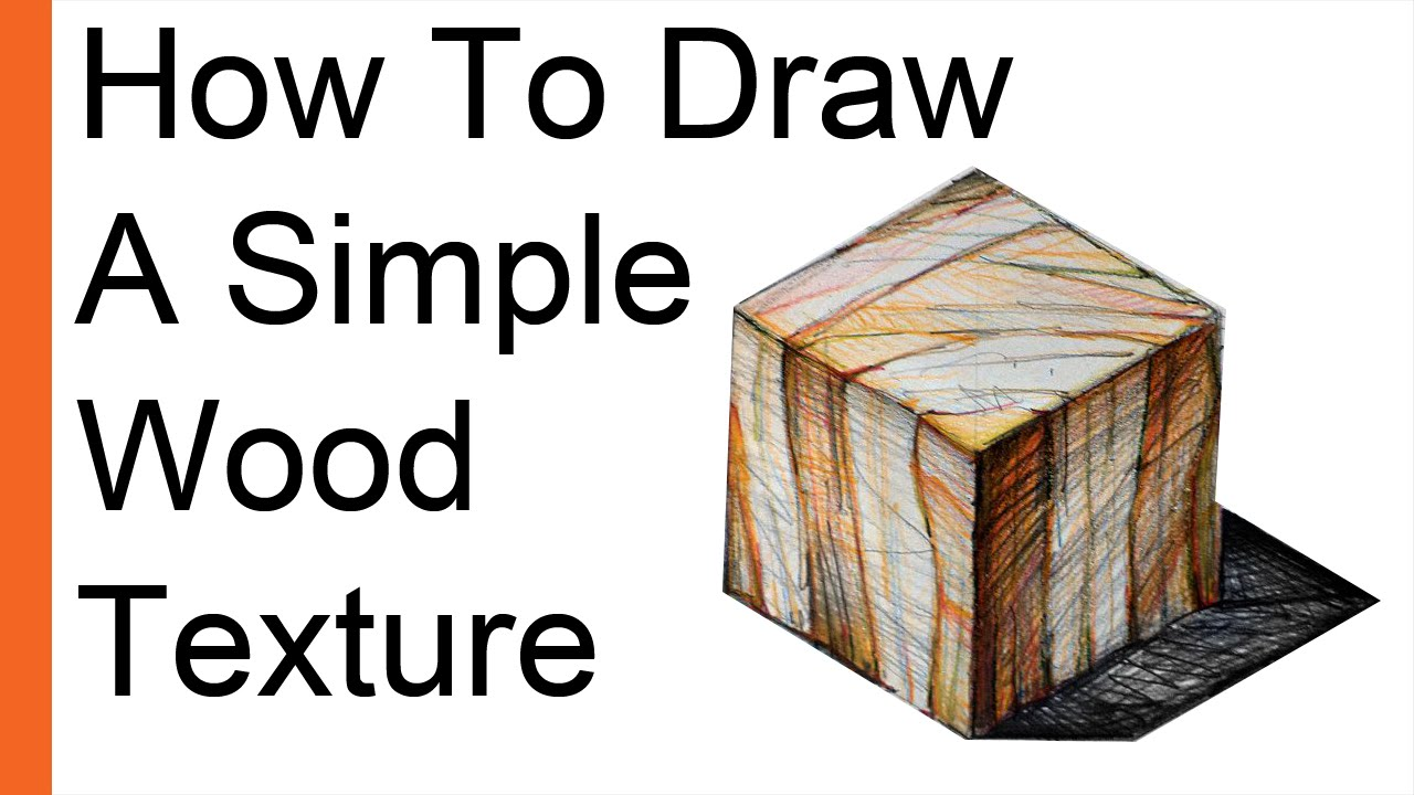 how to draw wood draw wood texture on a 4cm cube in isometric view