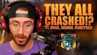 THEY ALL CRASHED!? (ft. Ninja, JoshOG & FearItSelf) - COD:Blackout Beta Gameplay