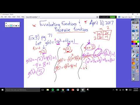 Day 119 Evaluating Composite And Piecewise Functions